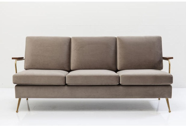 Kare Design Sofa Gamble Sand 3-Sitzer