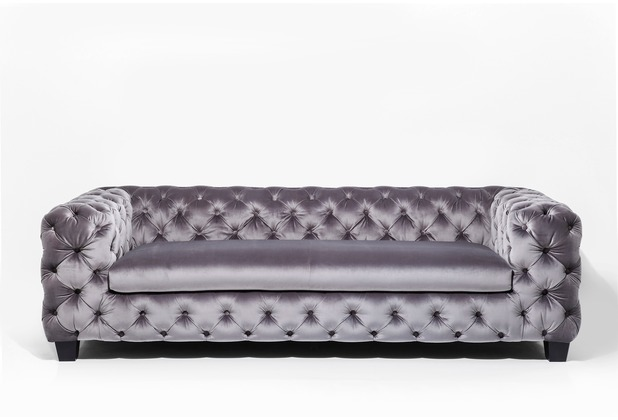 Kare Design Sofa My Desire Silbergrau 3-Sitz