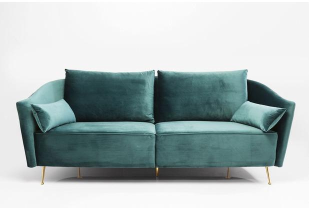 Kare Design Sofa Vegas Forever Petrol 3-Sitzer