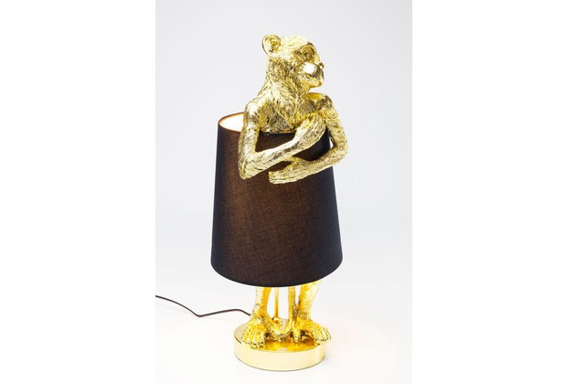 Kare Design Tischleuchte Animal Monkey Gold