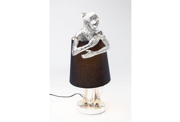 Kare Design Tischleuchte Animal Monkey Silber Schwarz