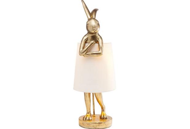 Kare Design Tischleuchte Animal Rabbit gold