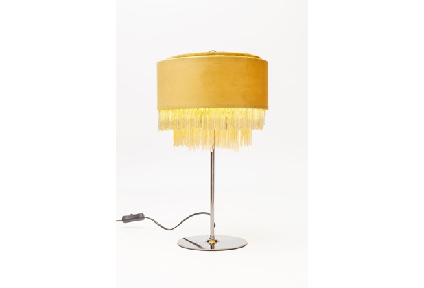 Kare Design Tischleuchte Tassel Gelb
