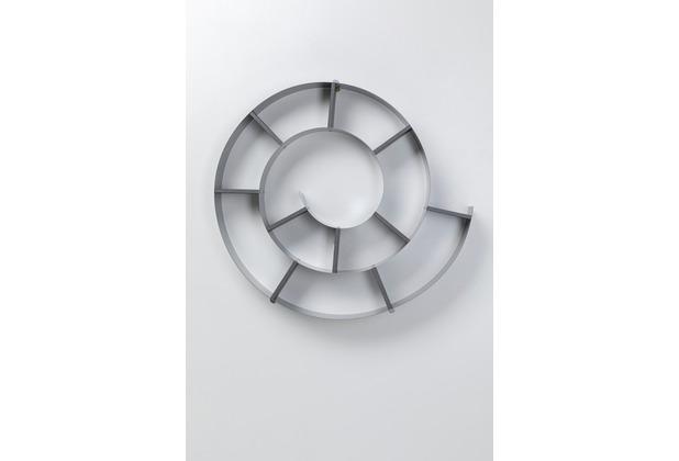 Kare Design Wandregal Snail Silver grau