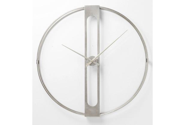 Kare Design Wanduhr Clip Silber Ø60cm