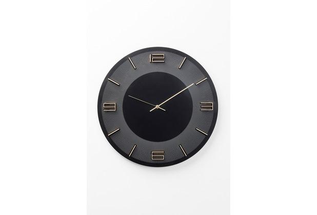 Kare Design Wanduhr Leonardo Schwarz/Gold 50