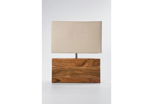 Kare Design Tischleuchte Rectangular Wood Nature