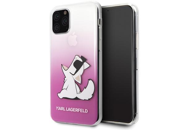 Karl Lagerfeld Choupette Gradient Case - Apple iPhone 11 - Pink - Hard Cover - Schutzhülle