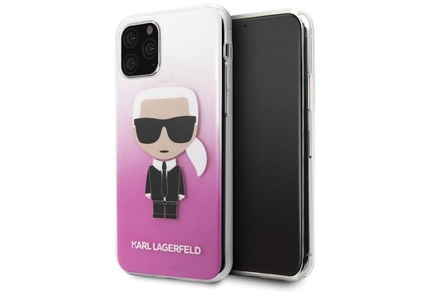 Karl Lagerfeld Iconic Gradient Case - Apple iPhone 11 Pro Max - Pink - Hard Cover - Schutzhüllen