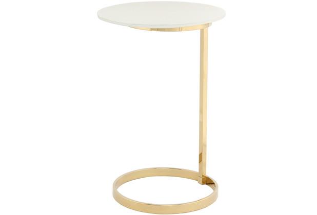 Kayoom Beistelltisch Kasimir 525 Gold / Weiß