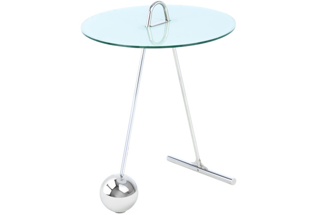 Kayoom Beistelltisch Pendulum 525 Silber / Weiß