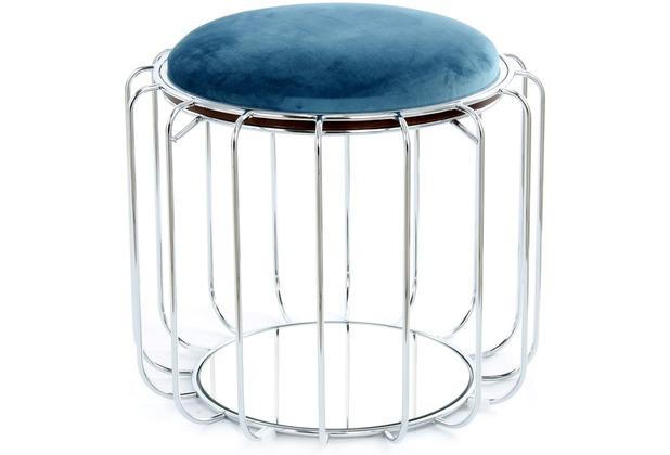 Kayoom Beistelltisch / Pouf Comfortable 110 Petrol / Silber