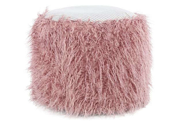 Kayoom Fellpouf Bobtail 125 Rosa / Grau