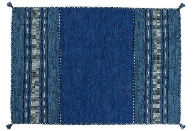 Kayoom Handwebteppich Alhambra 335 Blau 200 x 290 cm