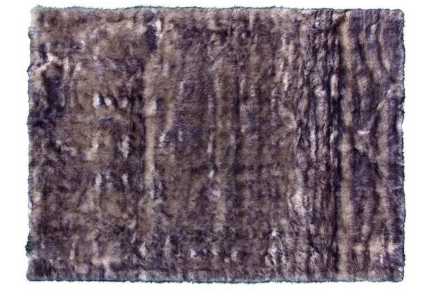Kayoom Teppich Crown 110 Weiß / Petrol 120 x 170 cm