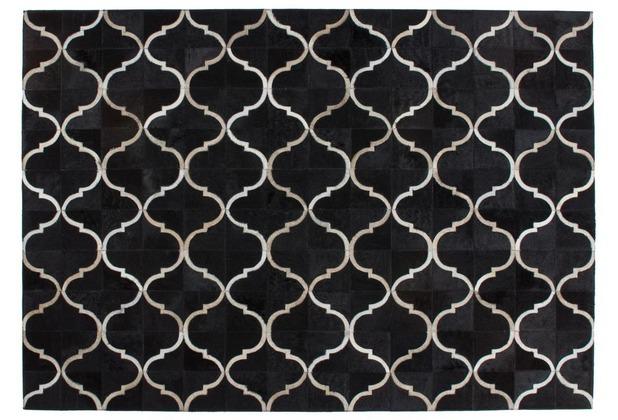 Kayoom Lederteppich Lavish 310 Schwarz 120 x 170 cm