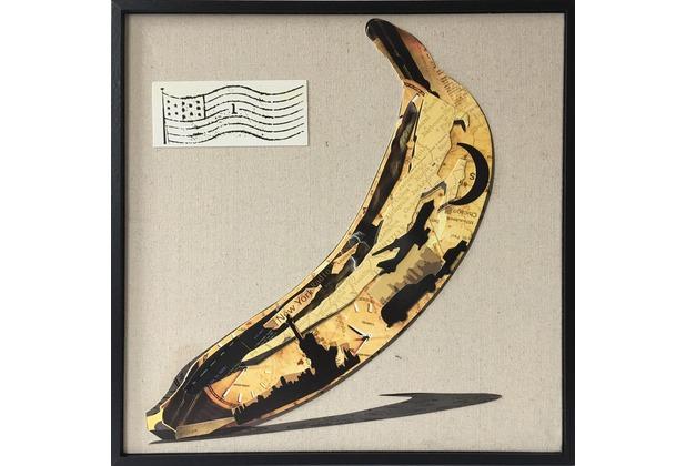 Kayoom Papier Wandbild Banana 42cm x 42cm