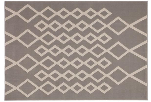 Kayoom Teppich Lina 400 Taupe / Elfenbein 120 x 170 cm