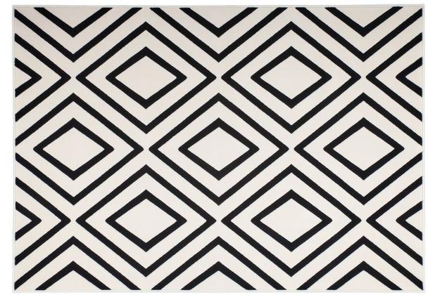 Kayoom Teppich Lina 500 Elfenbein / Schwarz 120 x 170 cm