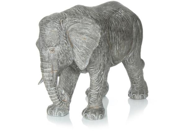 Kayoom Skulptur Elephant 210 Grau