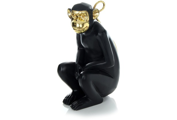 Kayoom Skulptur Sitting Monkey 310 Gold / Schwarz