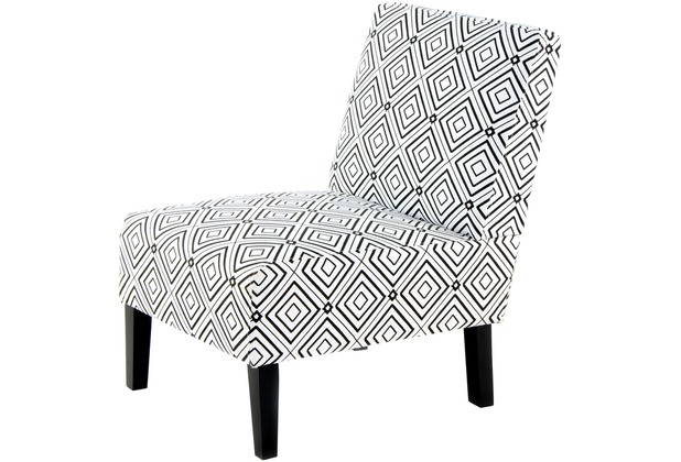 Kayoom Stuhl Indira 210 Schwarz Weiß