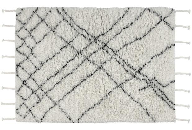 Kayoom Teppich Casablanca 130 Natur / Elfenbein 120 x 170 cm