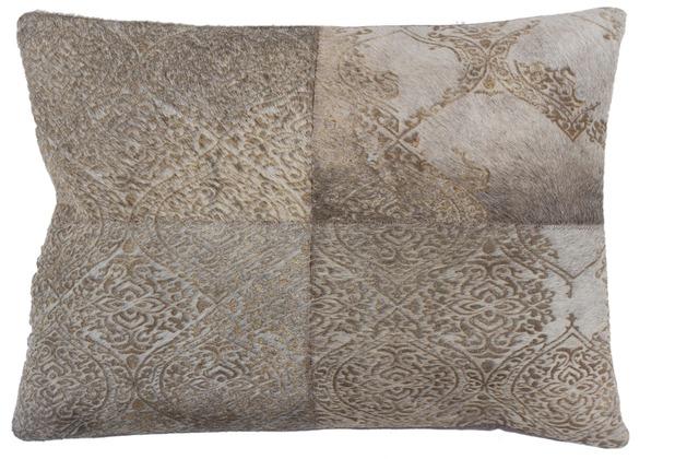 Kayoom Lederkissen Cobra Pillow 343 Silber 40cm x 60cm