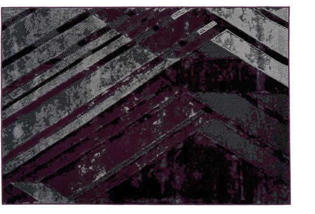 Kayoom Teppich Esperanto 425 Grau / Violett 120 x 170 cm
