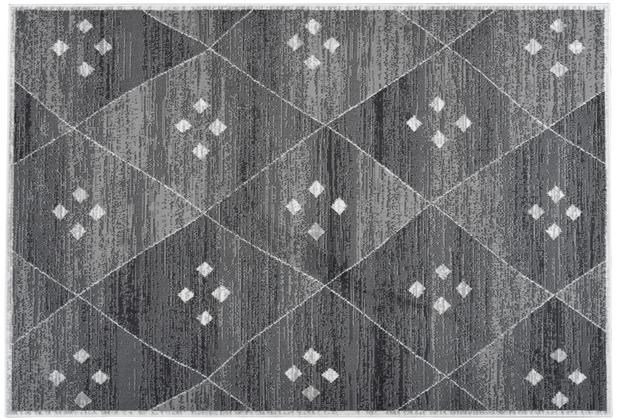 Kayoom Teppich Mandela 110 Grau / Weiß 80cm x 150cm 120 x 170 cm