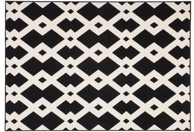 Kayoom Teppich Now! 100 Schwarz / Weiß 120 x 170 cm