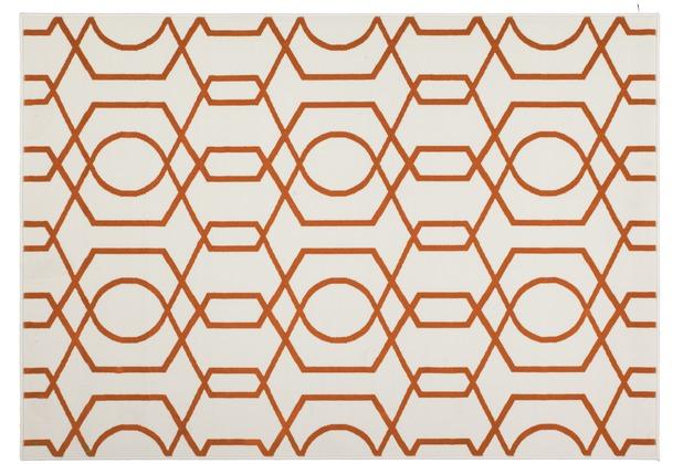 Kayoom Teppich Now! 400 Elfenbein / Orange 120cm x 170cm