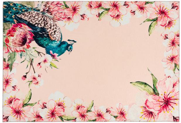 Kenda Sand Teppich Blossom 125 Multi / Creme 130 x 190 cm