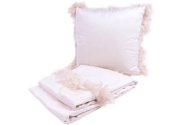 Kenda Sand Dekokissen & Decke Palmira 125 2er-Set Weiß