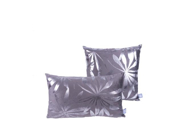 Kenda Sand Dekokissen Prisma 425 2er-Set Graphit / Silber
