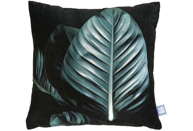 Kenda Sand Dekokissen Tropical 125 Schwarz / Grün 45 x 45 cm
