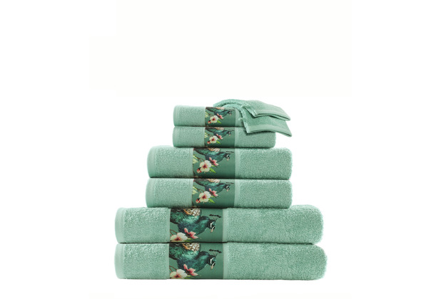 Kenda Sand Handtuch Blossom 125 8er-Set Multi / Grün