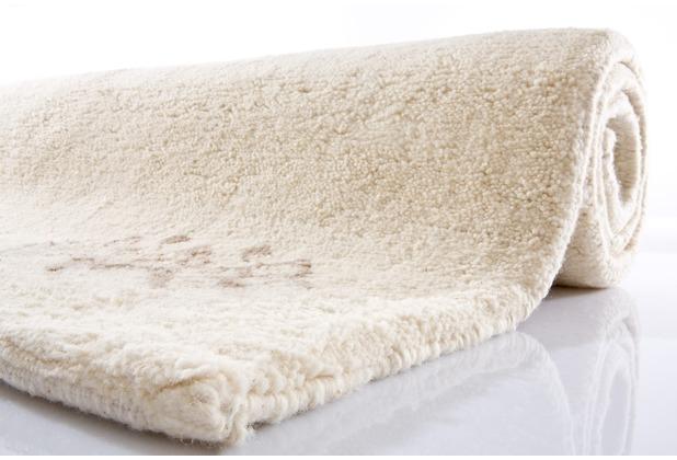 Tuaroc Berberteppich Kenitra mit ca. 90.000 Florfäden/m² 609 997 wollweiß mit Muster 40 x 60 cm