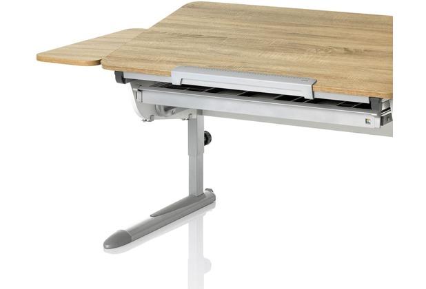 Kettler Schreibtisch-Zubehör SEITENPLATTE Eiche Sonoma/Silber