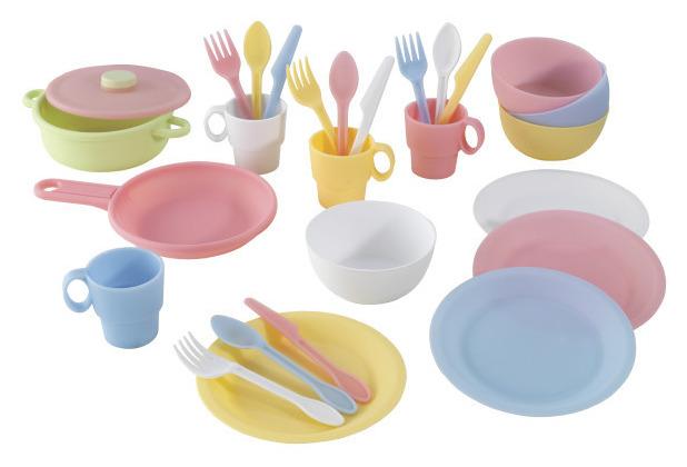 Kidkraft 27-teiliges pastelfarbenes Koch-Set
