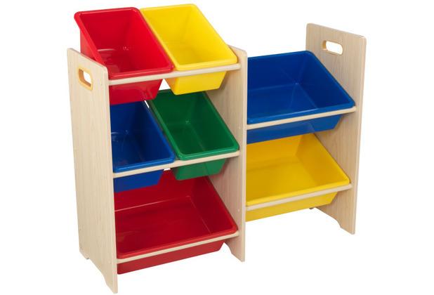Kidkraft Regal mit 7 Kisten - Naturfarben