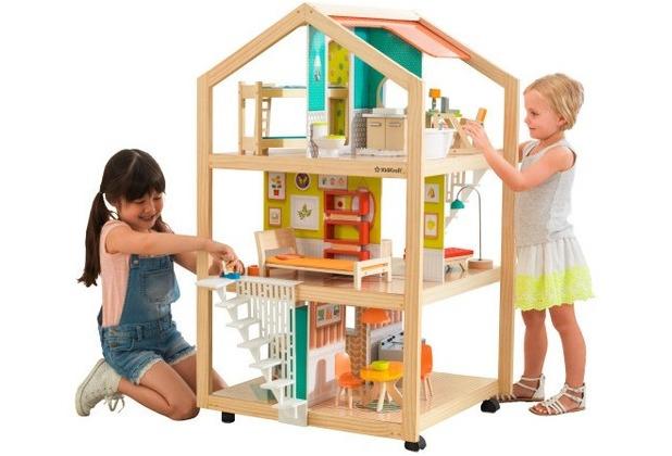 Kidkraft Stylish Mansion Puppenhaus mit Rollen B-Ware