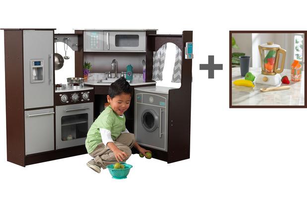 Kidkraft Ultimative Eck-Spielküche mit Licht und Sound + Spielset Smoothie