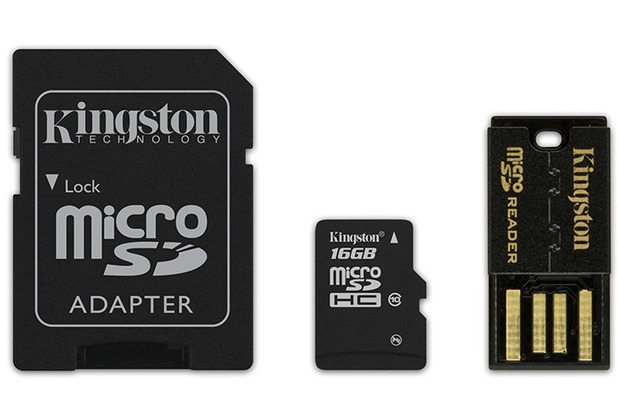 Kingston Mobility Kit microSDHC 16GB Class 10 (inkl USB + SD Adapter)