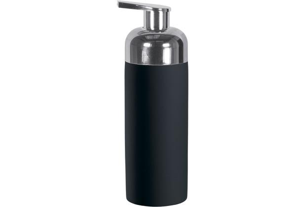 Kleine Wolke Accessoires Schaumseifenspender Pur, Schwarz 5,5 x 16,5 cm