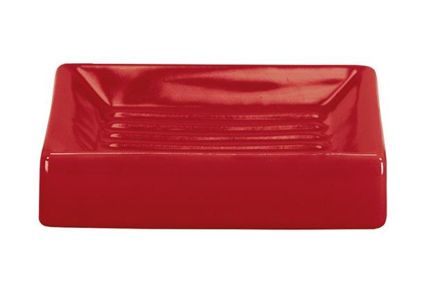 Kleine Wolke Accessoires Seifenschale Flash, Rot 2,5 x 10,5 cm