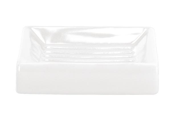 Kleine Wolke Accessoires Seifenschale Flash, Schneeweiß 2,5 x 10,5 cm