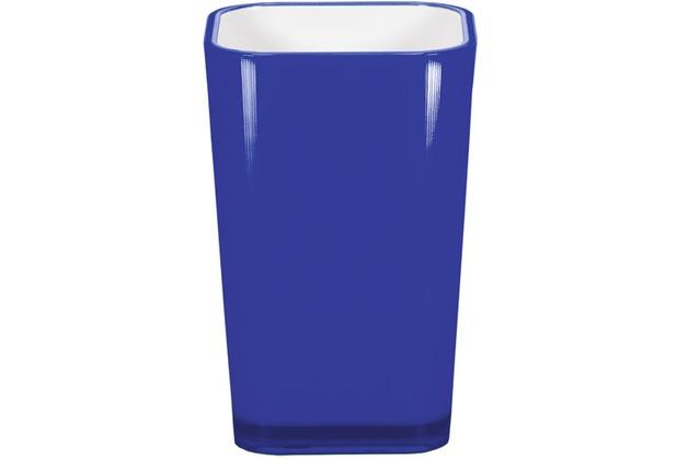 Kleine Wolke Accessoires Zahnputzbecher Easy, Kobaltblau 11 x 7 cm