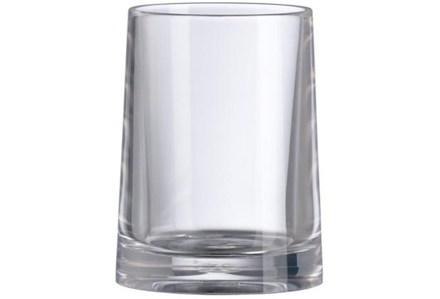 Kleine Wolke Accessoires Zahnputzbecher Pino, Clear 11,5 x 6,5 cm