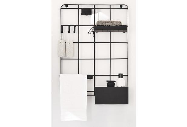Kleine Wolke Bad Organisation Framework Grid Schwarz M/ 40x54x12 cm